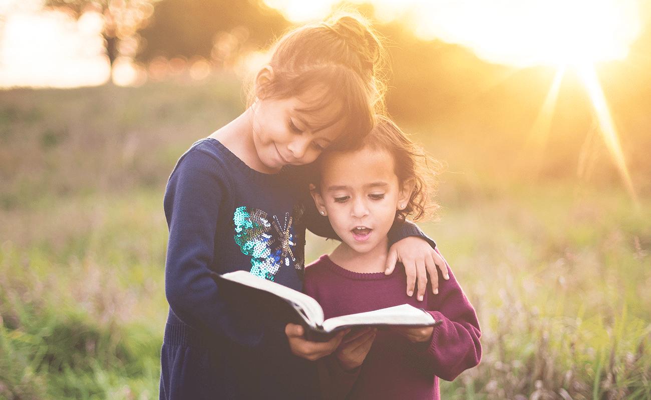 enroll in a christian preschool, christian preschool, reading bible, bible study